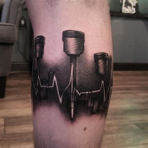 piston tattoo heartbeat pistons best ideas gallery