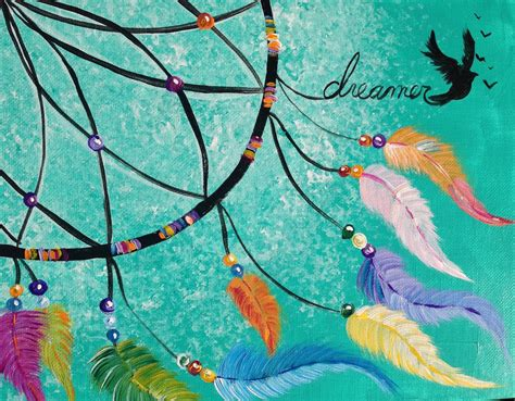 acrylic painting learning beginner learn to paint acrylic dreamcatcher the