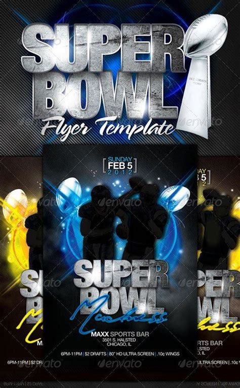Super Bowl 2017 Flyer Template Free