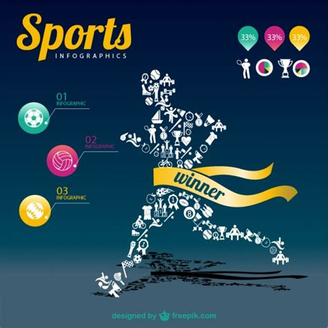 Sports Infographic Chion Template Vector Free Download Sports Graphic Design Templates