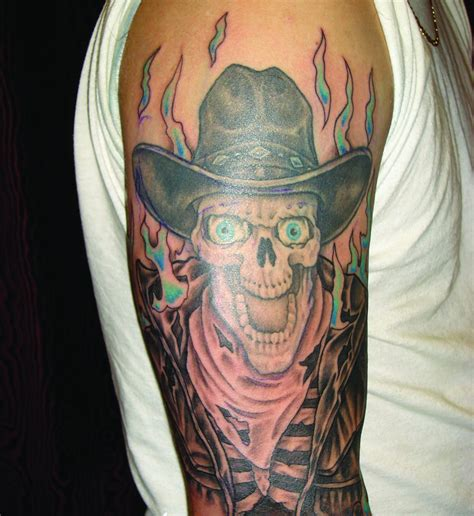 cowboy tattoo cowboy tattoos