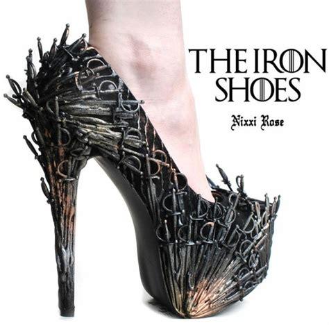 Joey Shoes 1 Wear It Enjoy It of thrones inspired iron throne high heels geektyrant