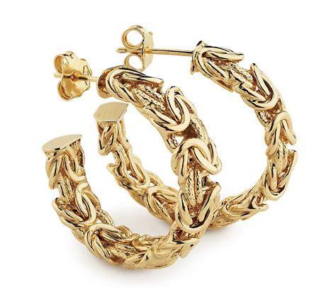 Byzantine Hoop Earrings in 18k Yellow Gold   Blue Nile