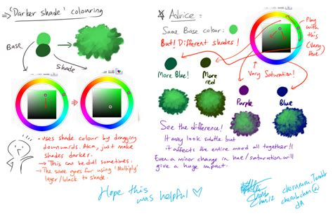 color shading shading colour choice tutorial by cherubchan on deviantart