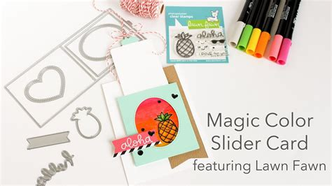 color slider you can do magic magic color slider card featuring lawn