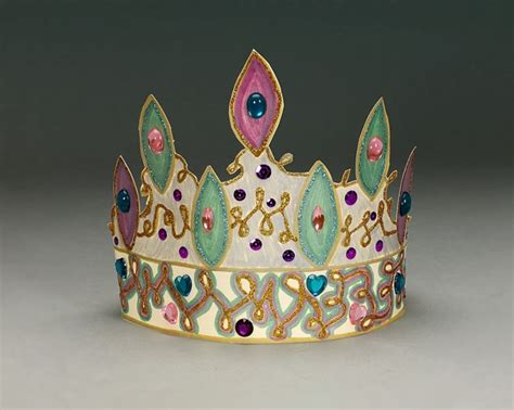 Papercraft Crown - crown jewels craft crayola