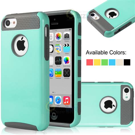 for apple iphone 5c heavy duty hybrid rugged cover screen protector ebay