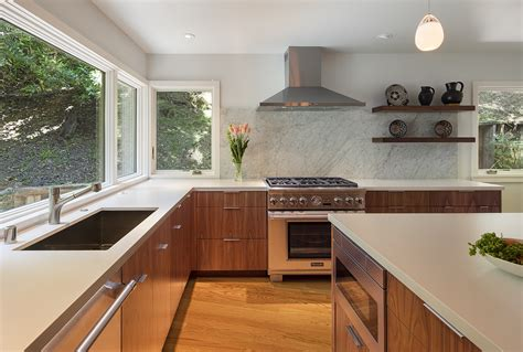 midcentury modern kitchen remodel in the oakland