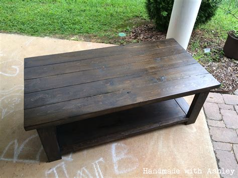 Diy Rustic Coffee Table Diy Rustic X Coffee Table Plans By White Handmade With