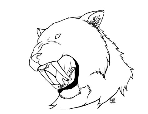 how to draw a sabertooth for kids step 7 dark brown hairs