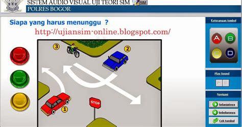 membuat sim mobil online tes membuat sim mobil soal tes ujian teori sim a b 1 b 2 c