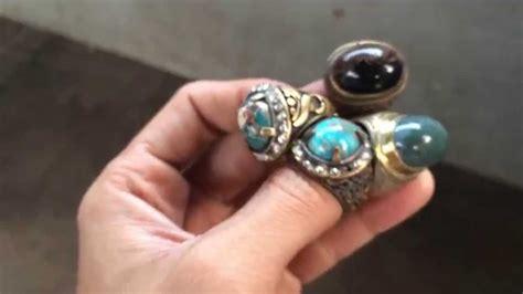 Batu Cincin Lumut Garut Tembus koleksi batu akik garut dan batu akik pirus