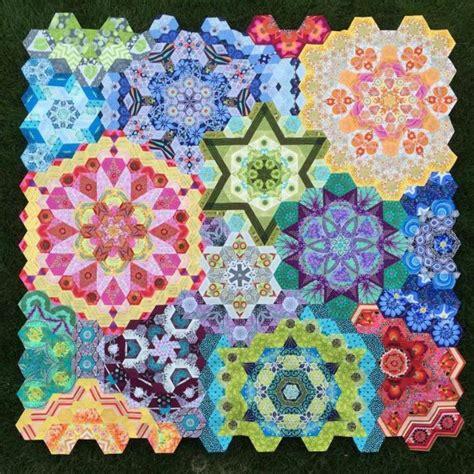 Quilt Along by The New Hexagon Millefiore Quilt Along