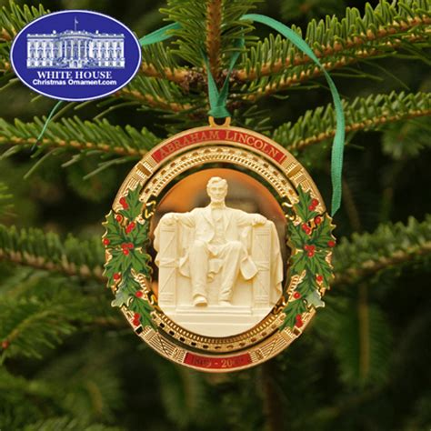 1980 white house christmas ornament 2009 secret service abraham lincoln bicentennial ornament