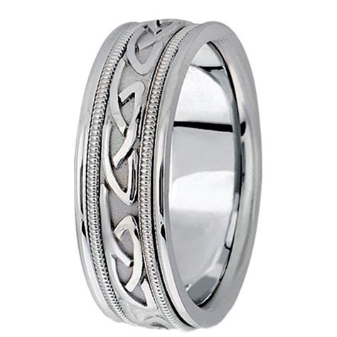 made celtic wedding ring band in palladium 6mm ub409a
