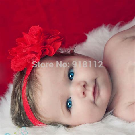 new style beautiful chiffon big flower headband baby lace flower headband elastic infant headbands chiffon big