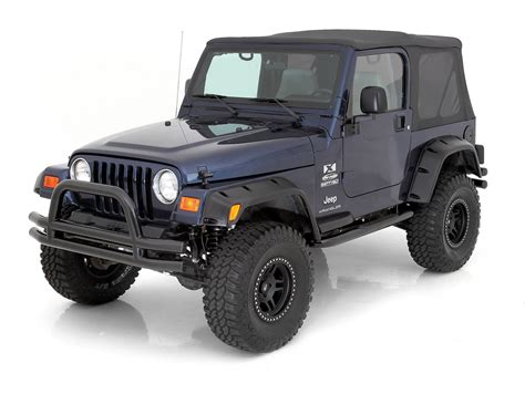 cj jeep wrangler smittybilt front tubular bumper with hoop for 76 06 jeep