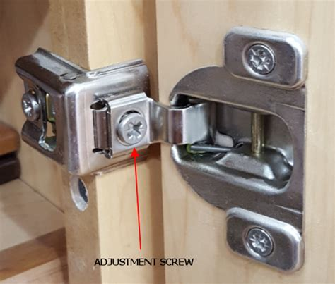 adjust corner kitchen cabinet hinges mf cabinets hinge adjustment screw kitchen gallery