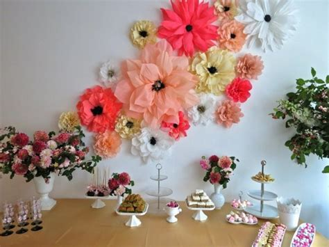 home decoration with flowers flowers from crepe paper room decorating ideas