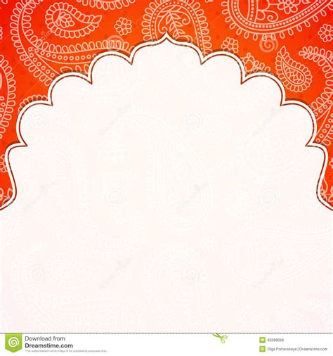 indian pattern frame frame in the indian style stock vector illustration of