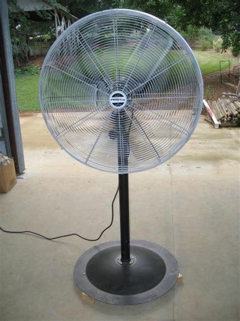 30 inch pedestal fan casters added to a workshop pedestal fan diy backyard