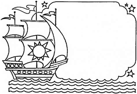 Columbus Day Ships Coloring Pages Family Holiday Net Imagenes De Columbus Day For Coloring