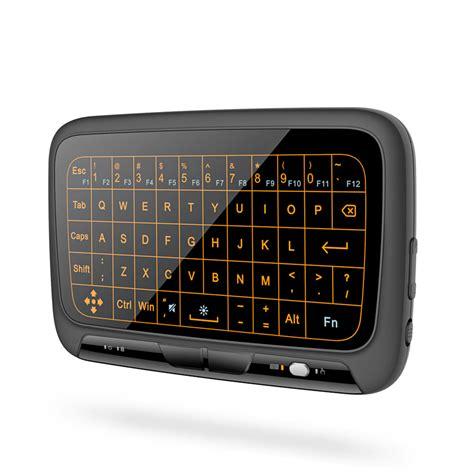 Keyboard Wireless Mini 2 4ghz Qwerty Dengantouchpad Mouse Fuction h18 mini wireless keyboard 2 4ghz qwerty keyboard touchpad with backlight function