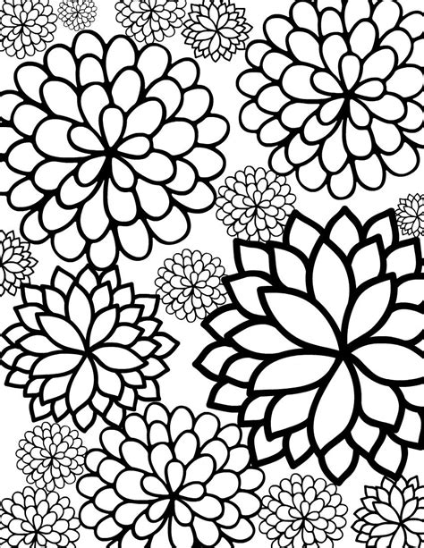 coloring pages printables flowers for adults flower coloring pages for adults