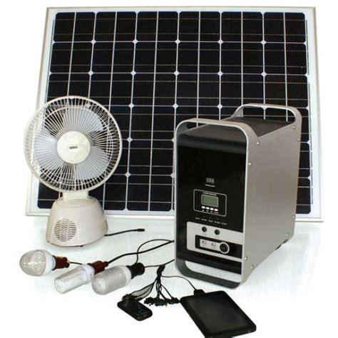 solar powered system 50w 12v portable solar panels energy system