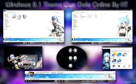 download theme windows 7 gun gale online visual styles 8 gun gale online sinon anime theme by