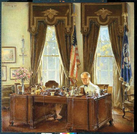 oval office franklin d roosevelt at his desk in the oval office