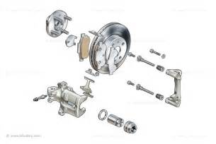 Brake System Assembly Car Brake Illustrations
