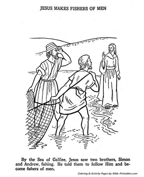 free coloring pages of fisher of men
