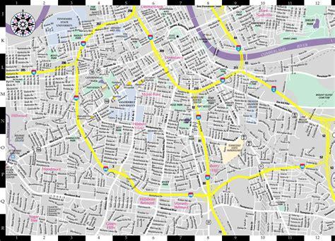map of nashville area nashville map usa map guide 2016