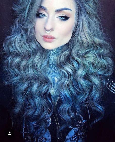 silver blue hair on pinterest lemon hair highlights blue and grey silver hair blue highlights pinterest
