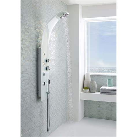 White Shower Panels by Premier Deacon White Thermostatic Shower Panel