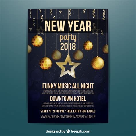 new year poster 2018 new year 2018 poster vector free