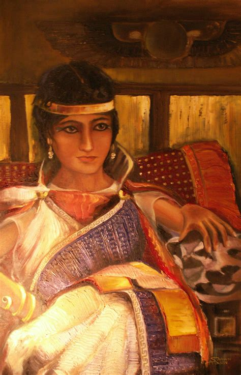 painting real cleopatra after waterhouse by saolsen on deviantart