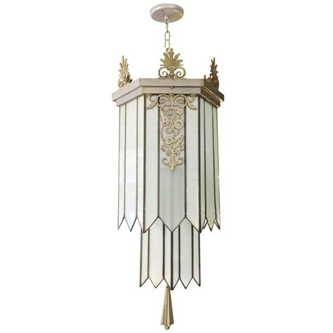 Theater Chandelier Deco Stepped Theater Chandelier At 1stdibs