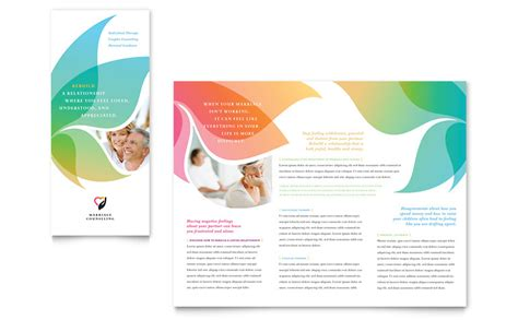 word templates brochure marriage counseling tri fold brochure template word