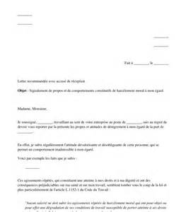 Exemple De Lettre De Demission Pour Harcelement Moral Lettre De Signalement De Harc 232 Lement Moral 224 Employeur