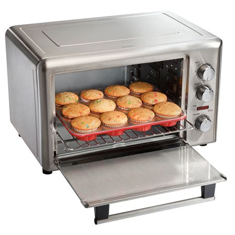 How To Bake Muffins In Toaster Oven Hamilton Beach Countertop Oven 31103 Stainless