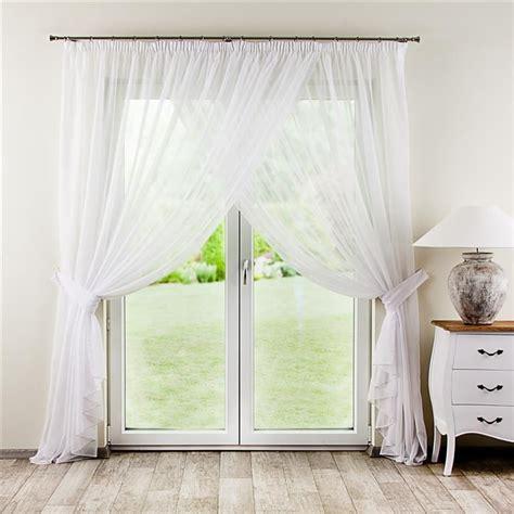 amelia curtains amelia pleated net curtain with tie backs 2 pcs white