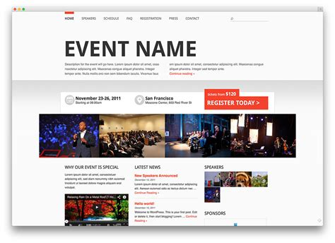 themed events exles 30 awesome wordpress themes for conference and event 2017