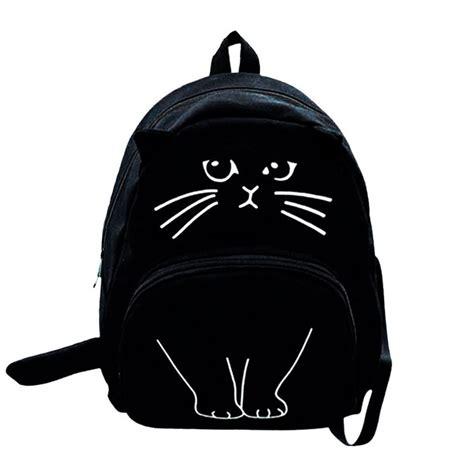 Tas Ransel Kucing tas ransel wanita model kucing 3d black jakartanotebook