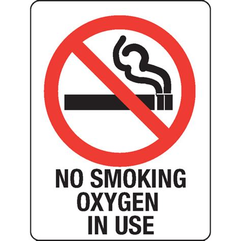 No Smoking Sign Use | no smoking oxygen in use sign