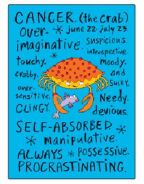 cancer negative traits fridge magnet