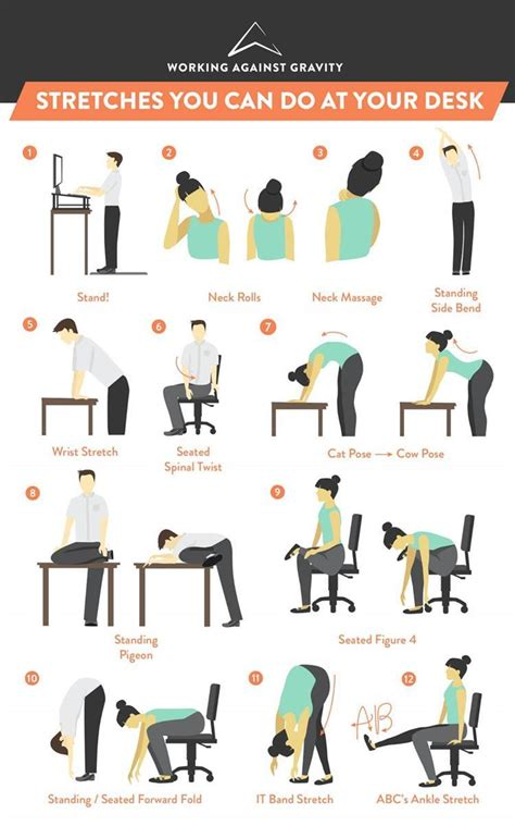 at your desk stretches you can do at your desk working against gravity