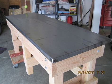 best garage workbench work bench top ideas the garage journal board bench
