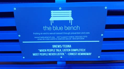 blue bench denver what do those blue benches mean 9news com